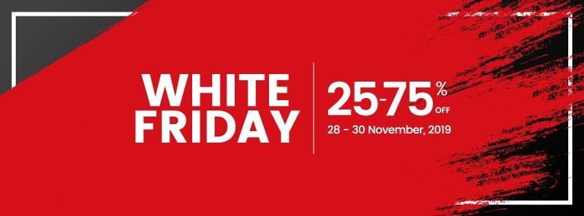 تخفيضات الجمعة البيضاء – خصومات رائعة 25% لغاية 75%