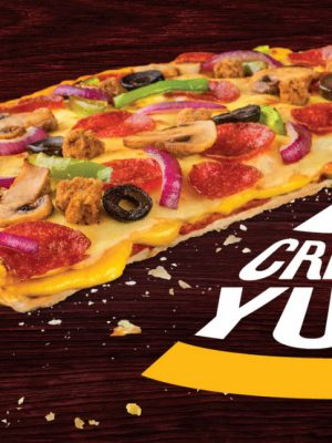 تشيزي كرنش بيتزا