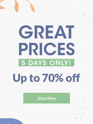 أسعار رائعة – خصم حتى 70%