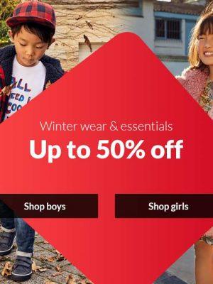 خصم حتى 50% على ملابس وأساسيات الشتاء