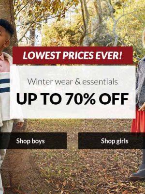 خصم حتى 70% على ملابس وأساسيات الشتاء