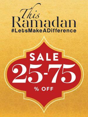 تنزيلات رمضان – خصم 25% حتى 75%